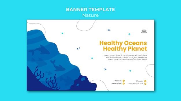 Enregistrer le modèle de bannière des océans