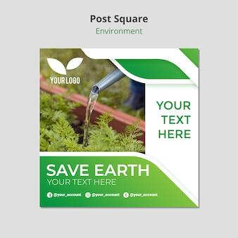 Enregistrer le modèle carré de poteau de terre