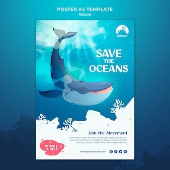 Enregistrer le modèle d'impression des océans
