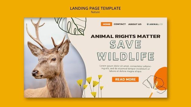 Enregistrer la page de destination des animaux
