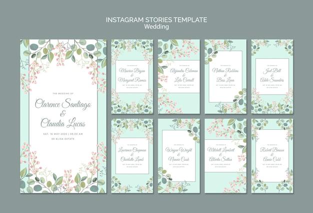 Enregistrez la date des histoires instagram de mariage floral