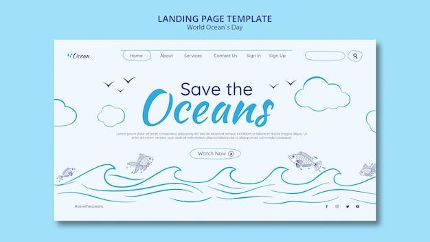 Enregistrez la page de destination des océans