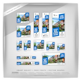 Ensemble de bannières google immobilier