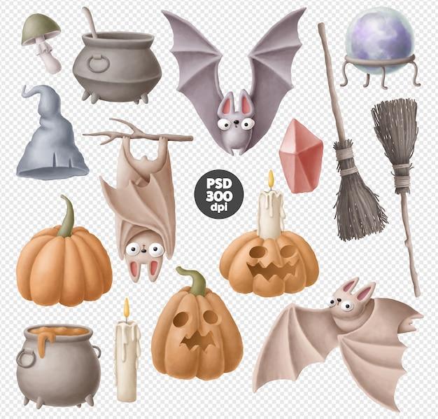 Ensemble de clipart halloween