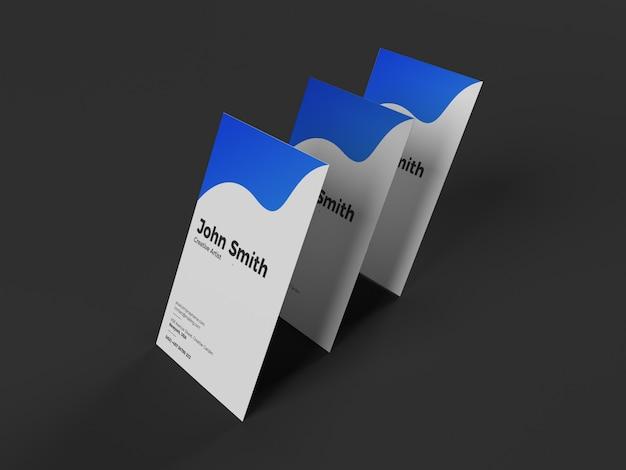 Ensemble créatif de maquette de carte de visite verticale