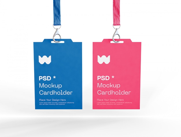 Ensemble de deux maquettes de cartes d'identité de badge