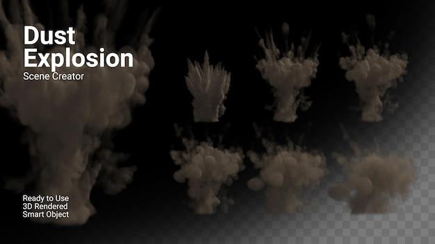 Ensemble d'explosion de poussière isolé