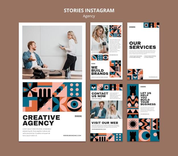 Ensemble d'histoires instagram design suisse