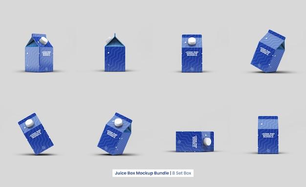 Ensemble isolé de conception de maquette de boîte à jus