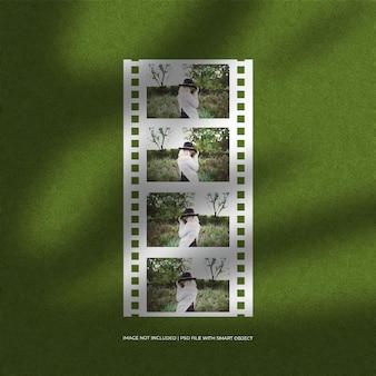 Ensemble de maquette et d'arrière-plan de cadre photo en papier film