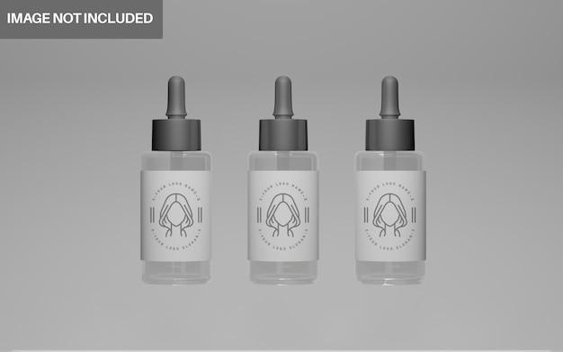 Ensemble de maquette cosmétique de conception 3d réaliste