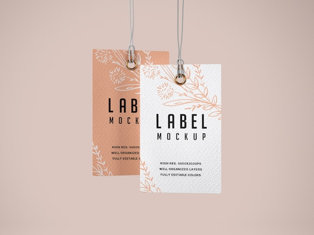 Ensemble de maquette d'étiquette en papier