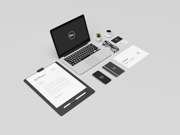 Ensemble de maquette d'identité de marque d'entreprise