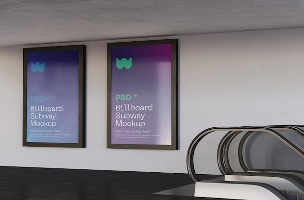 Ensemble de maquette de métro billboard