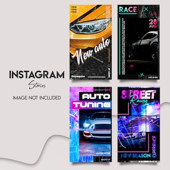 Ensemble de modèles d'histoires instagram automatiques