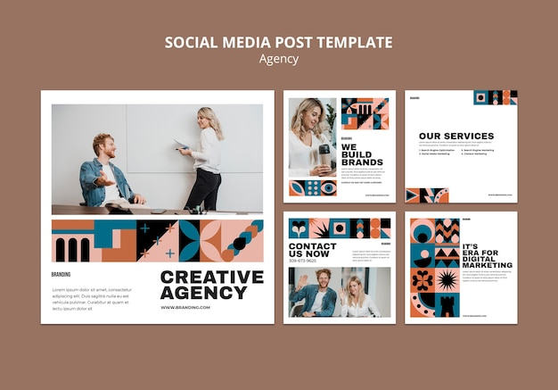 Ensemble de posts instagram design suisse