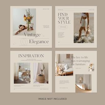 Ensemble de publication instagram de style minimal