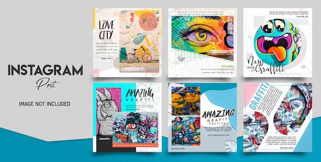 Ensemble de publications sur les médias sociaux instagram