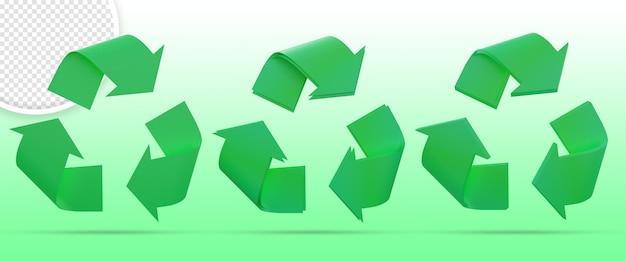 Ensemble de symboles d'icône de recyclage