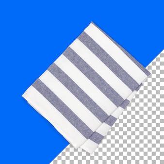 Ensemble de tissu à rayures serviette isolé