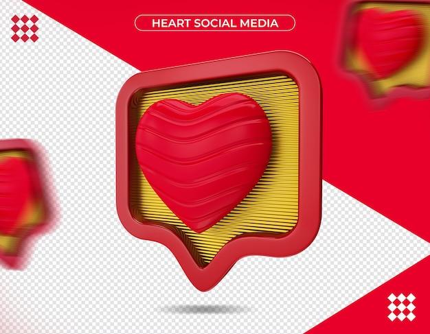 Entendre les médias sociaux en rendu 3d isolé
