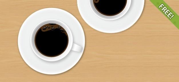 Entièrement gratuit coupe layered café psd