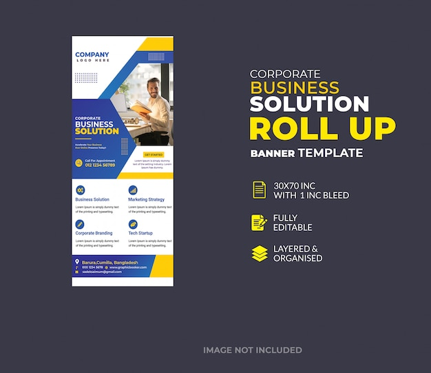 Entreprise créative d'entreprise roll up banner