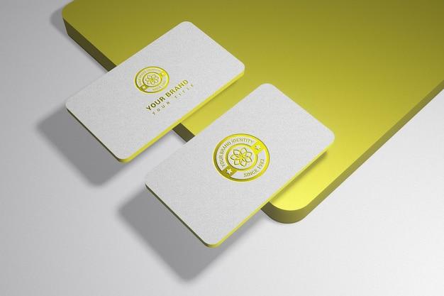 Entreprise de luxe avec maquette de logo