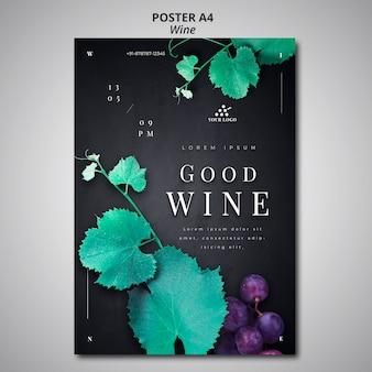 Entreprise de vin de conception d'affiche