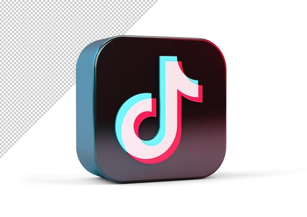 Enveloppe carrée icône tiktok avec bords arrondis