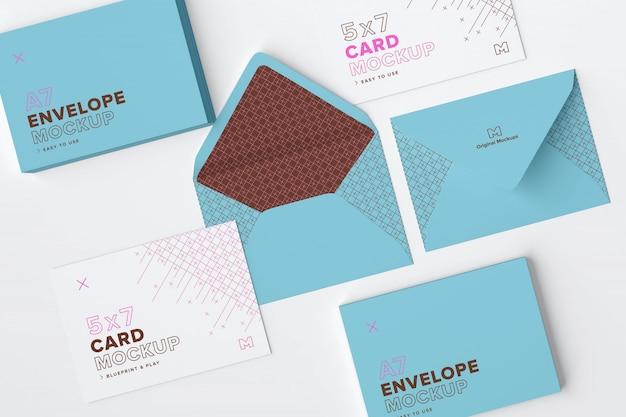 Enveloppe et maquette de carte postale