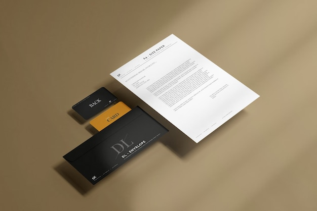 Enveloppe avec maquette de papier à en-tête