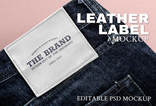 Espace de conception sur l'étiquette de la marque de jeans