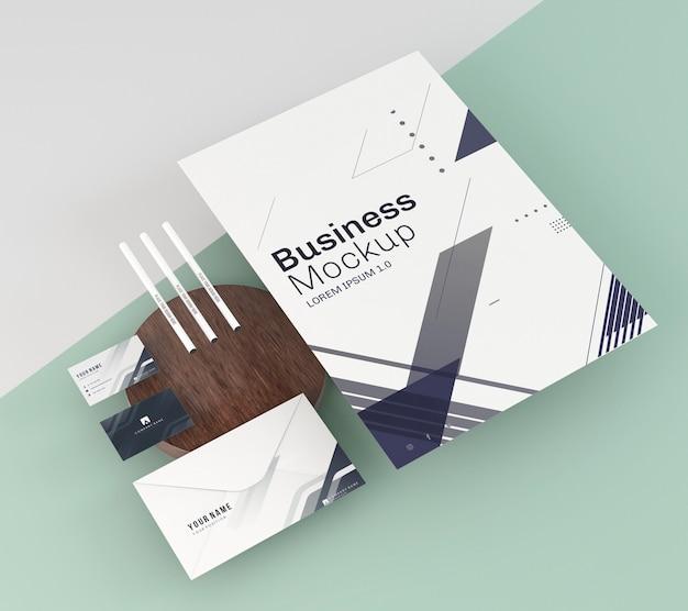 Espace de copie de maquette de papeterie d'affaires