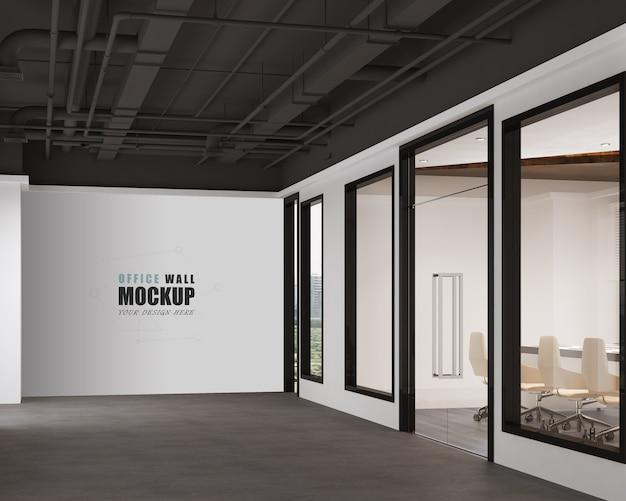 Espace de travail avec maquette de mur de design industriel moderne