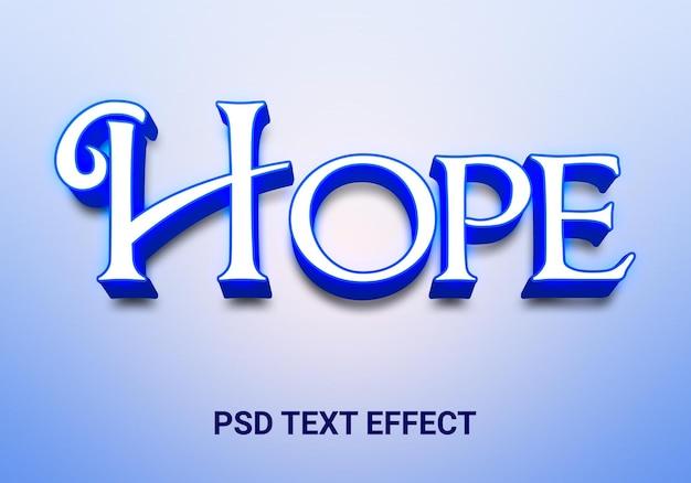 Espoir effets de texte modifiables