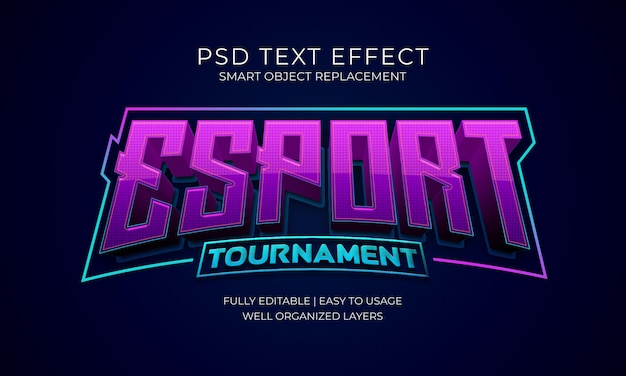 Esport tournament logo text effect