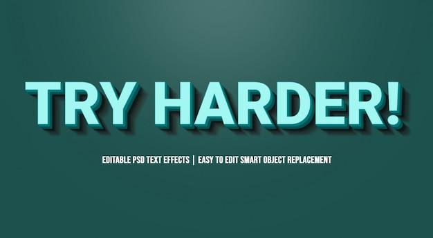 Essayez un bleu plus dur dans les effets de texte
