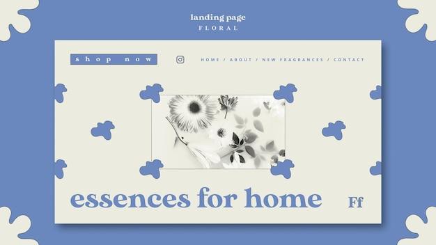 Essences pour la page de destination du concept d'accueil