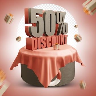 Été 50 % de réduction sur la conception 3d