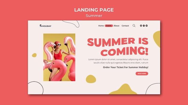 L'été arrive modèle de page de destination