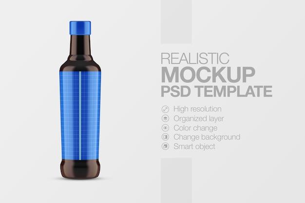 Étiquette de bouteille de maquette réaliste