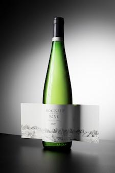 Étiquette de bouteille de vin maquette