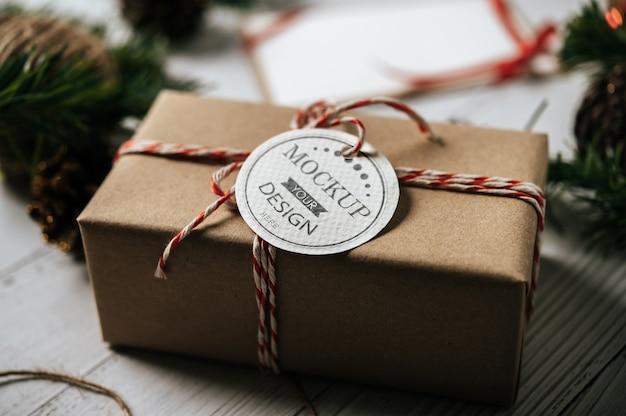 Étiquette de cadeau de noël psd