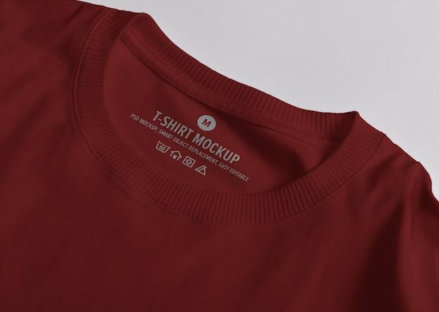 Étiquette de col de t-shirt avec maquette de logo