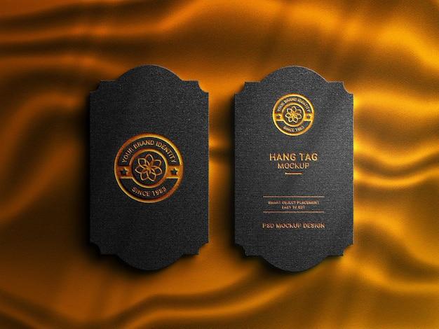 Étiquette volante de luxe avec maquette de logo