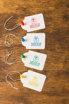Étiquettes de cadeaux d'anniversaire maquettes