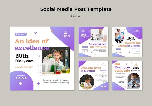Étudier la publication des médias sociaux sur les sciences