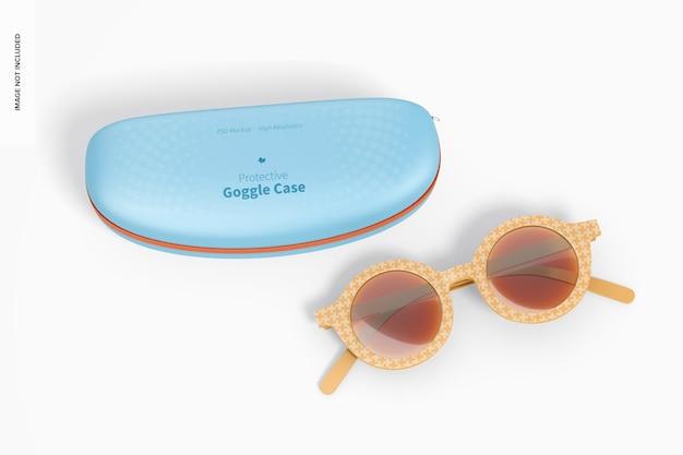 Étui à lunettes de protection avec maquette de lunettes de soleil