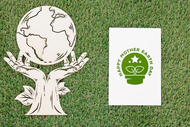 Événement de la journée mondiale de l'environnement plat